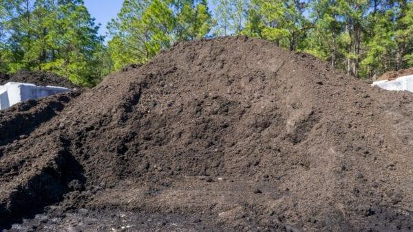 mound of dark topsoil
